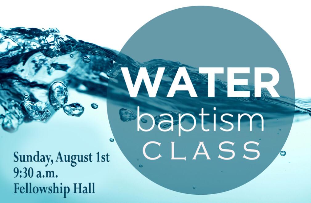 Baptism Class Registration