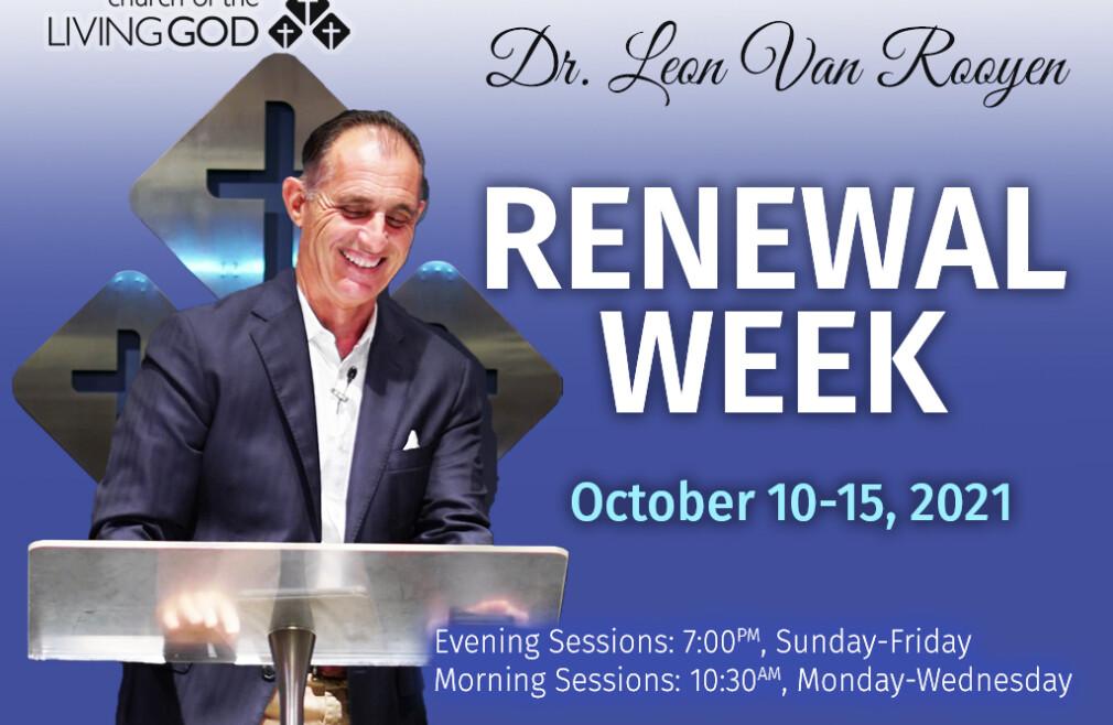 Renewal Week with Dr. Leon van Rooyen